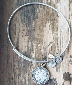 Alex and Ani Silver Four Leaf Clover Bracelet